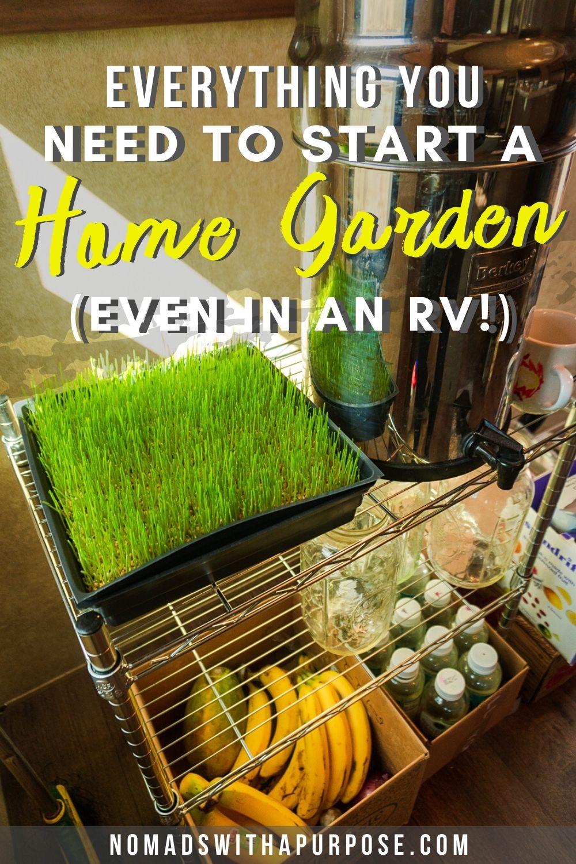 home garden in rv