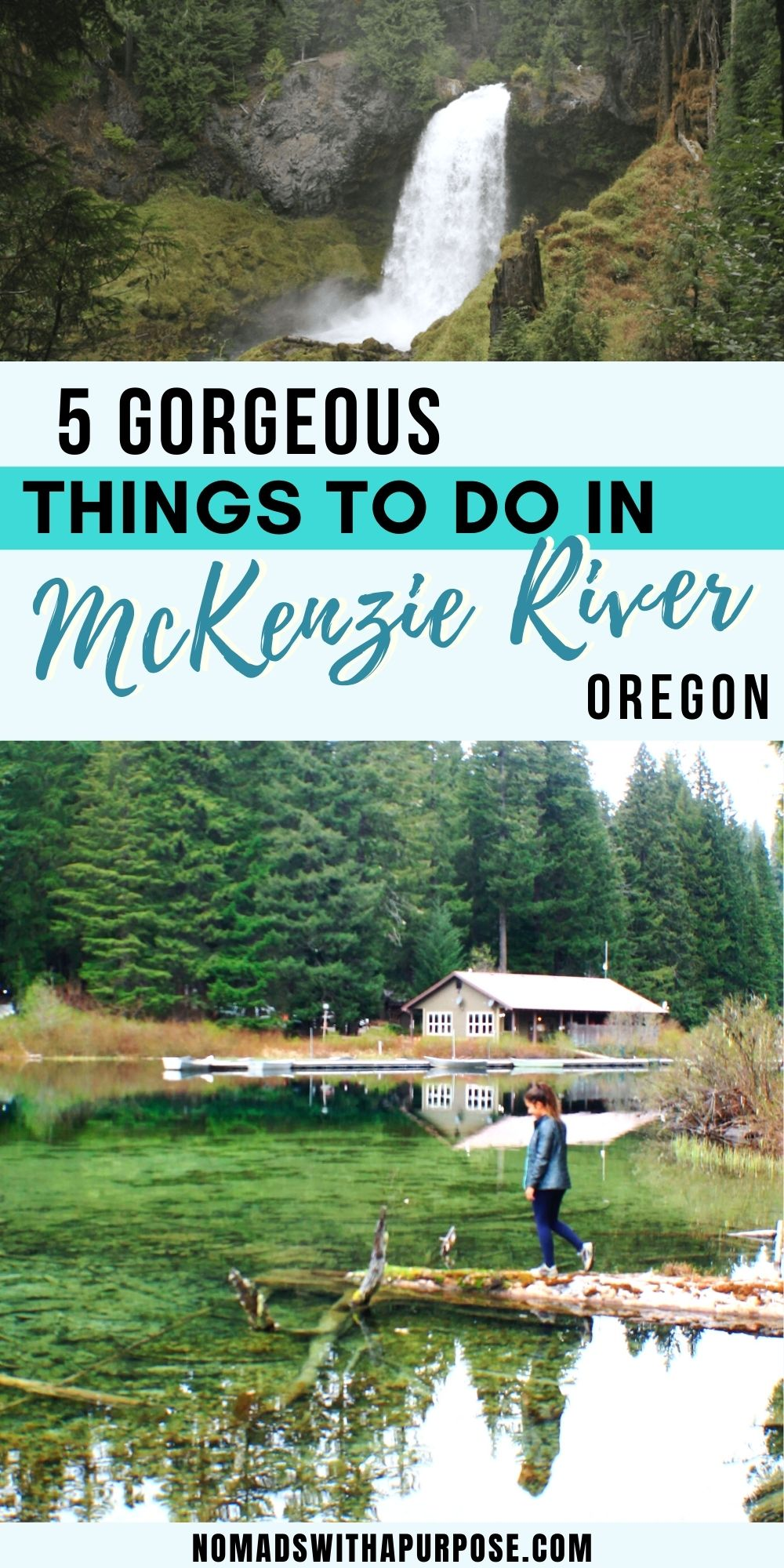 things to do McKenzie River Pin