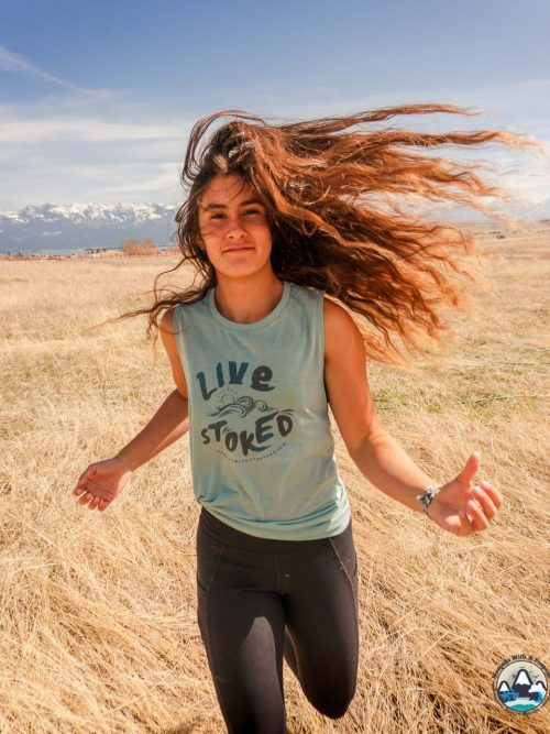 Live stoked, Womens Tank, nomads with a purpose