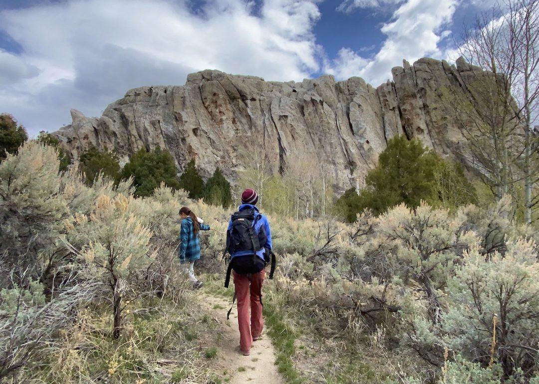 Hiking in City of Rocks, Idaho