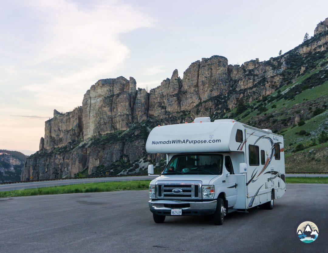 Driving to Tensleep Canyon