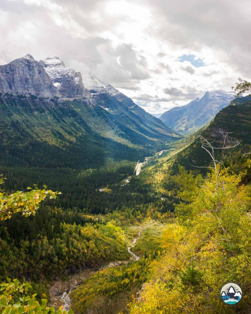 Fall Colors in Glacier, Going to the Sun road