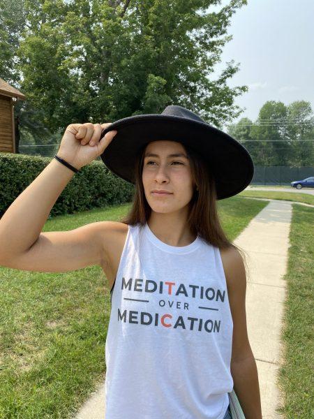 Meditation over Medication tank womens