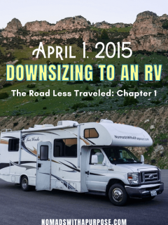 Downsizing to an RV